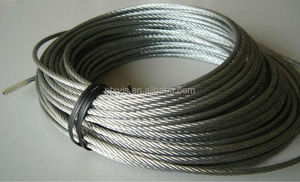 6x12+7fc ungalvanized PVC coated steel wire rope
