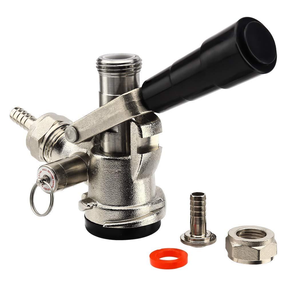 MRbrew Beer keg Coupler D System, Sankey Keg Tap Coupler - Black Lever Handle