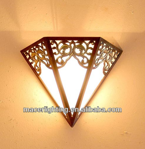 Fancy Moroccan Style Wall Lights Copper Lanterns - Buy Copper Wall Lights, Moroccan Brass Wall Lantern,Decorative Vintage Lighting Product on