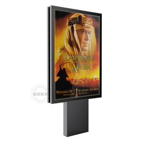 Water-resistant LED white acrylic light box for road sign advertising