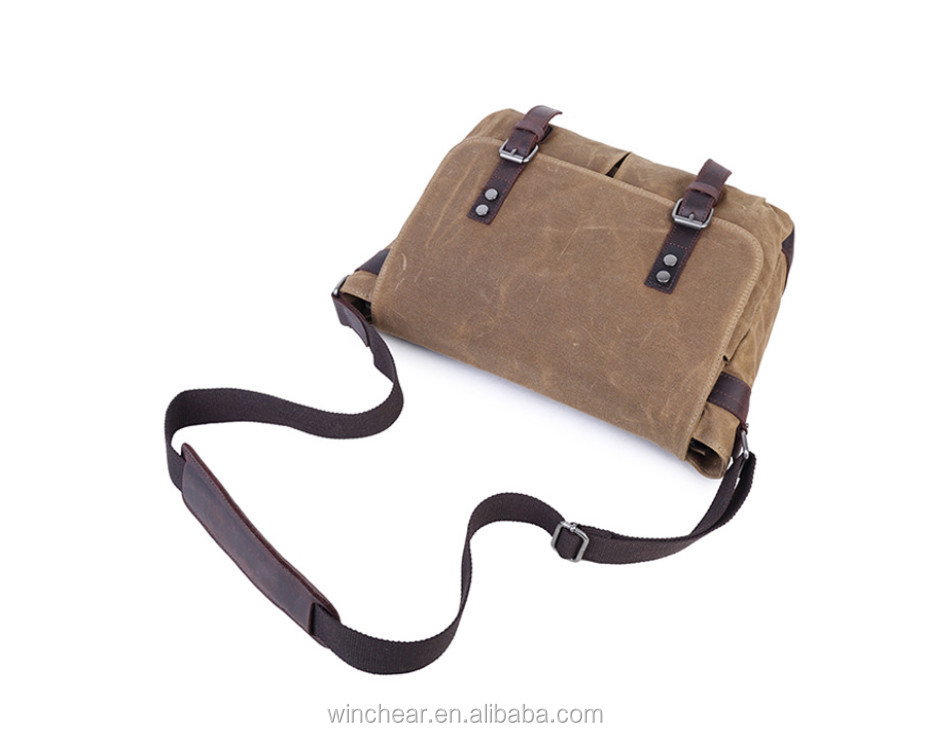 Detachable adjustable strap canvas shoulder bags custom men messenger cross body bag