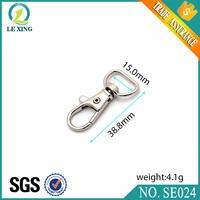 Wholesale metal zinc alloy swivel lobster claw bag handbag dog leash snap hook