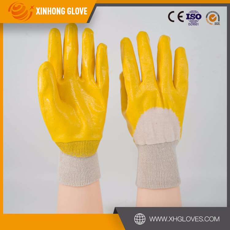 Pvc Safety Cotton Work Gloves With Rubber Grip Dots Hand Gloves ...