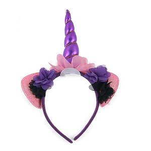 Festival Cool Dark Magic Unicorn Head Band With Cat Ear