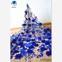Beautifical Tulle <span class=keywords><strong>फीता</strong></span> <span class=keywords><strong>कपड़े</strong></span> नीले <span class=keywords><strong>फीता</strong></span> <span class=keywords><strong>कपड़े</strong></span> फूल कशीदाकारी 3D फ्रेंच <span class=keywords><strong>फीता</strong></span> <span class=keywords><strong>कपड़े</strong></span> JYN293