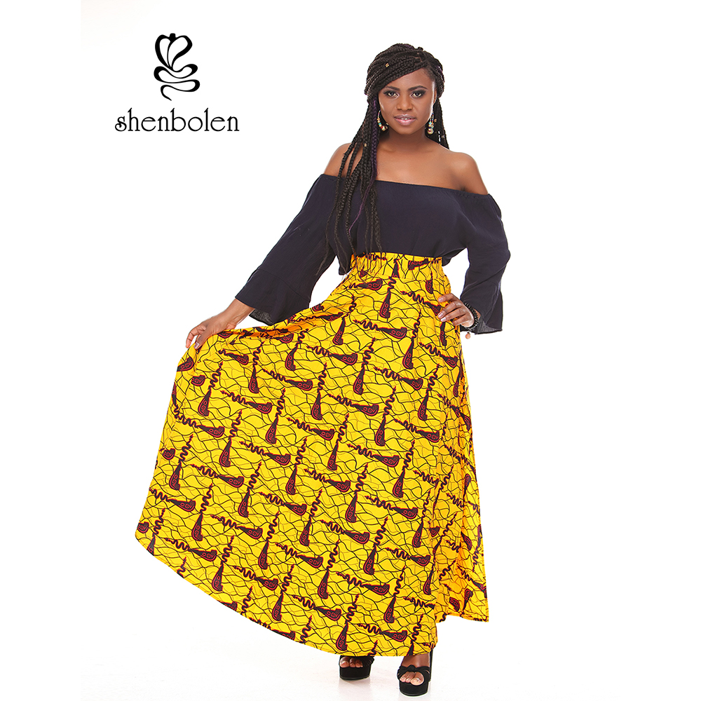 LT033 The design of the classic long skirt of African girls' fashion batik prints