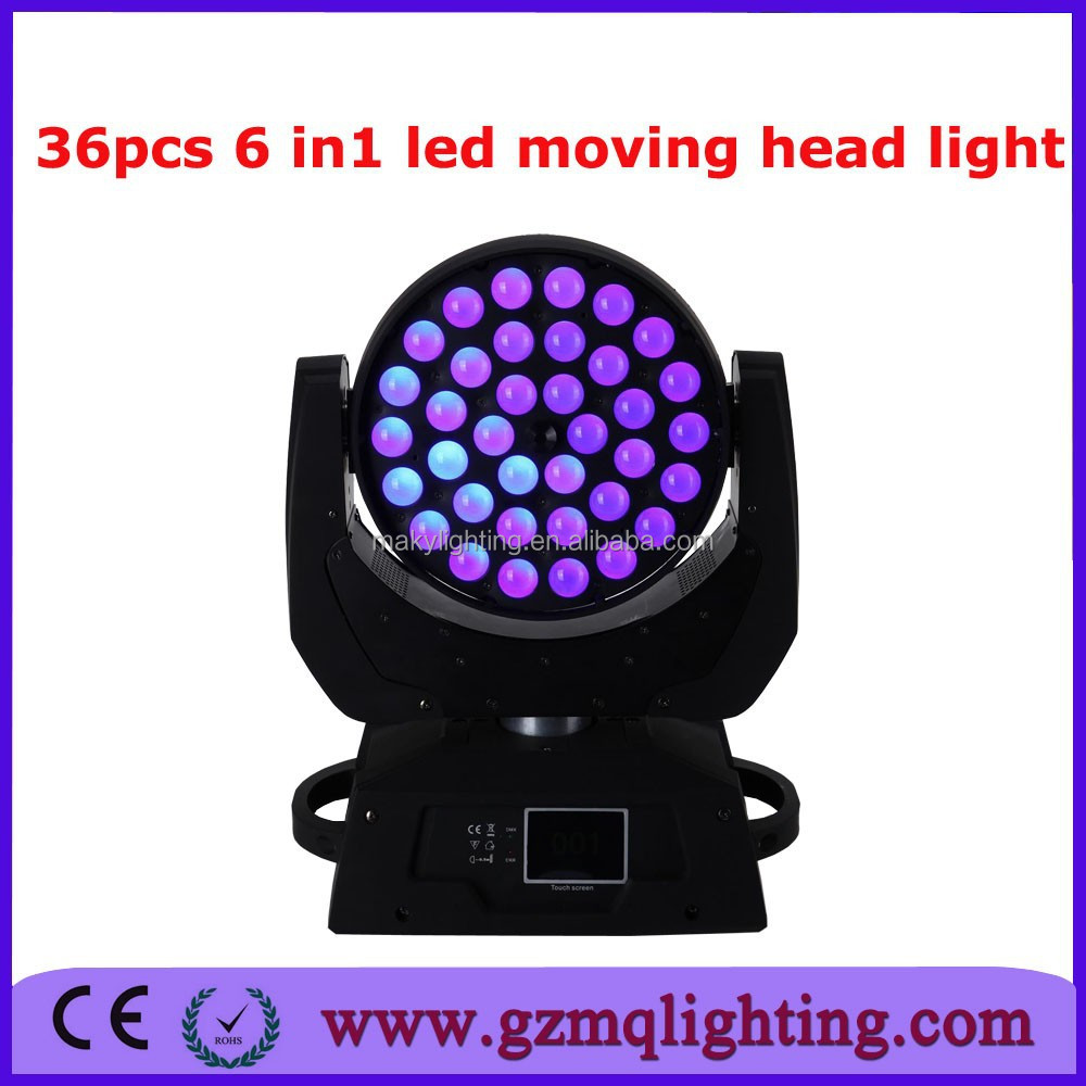 2015 hot selling sharpy zoom 36pcs 6 in1 moving head light bar club event decorator