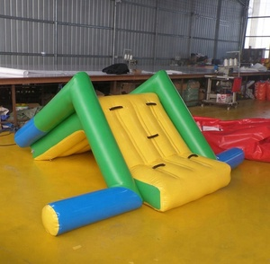 cheap Swimming pool Inflatable slide for children inflatable beach slide floating water slides