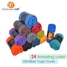 360g Custom Logo gym towel grip yoga towel non slip hot yoga towel with microfiber fabric size 24*72inch wholesale