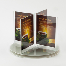 Roterende Quadruple Elegante Acryl Poster <span class=keywords><strong>Menu</strong></span> Display Stand