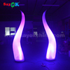 wholesale led lighting event inflatable tusk ivory wedding stage backdrop decoration