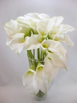 Sj afo48 wholesale artificial white calla lily flower pu sj afo48 wholesale artificial white calla lily flower pu zantedeschia flower in wedding fake plastic calla mightylinksfo