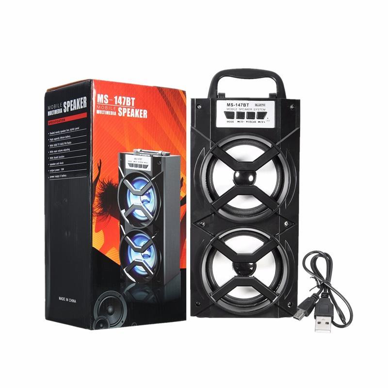 MS-147BT LED Light Wireless BT Portable Hand Speaker High Power FM Radio Audio Music Player Support TF Card USB фото