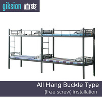 (ZS901#) Metal double bunk bed designs for school dormitory