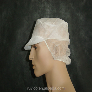 9eaf80d5021 disposable nonwoven peaked cap with snood   hair net