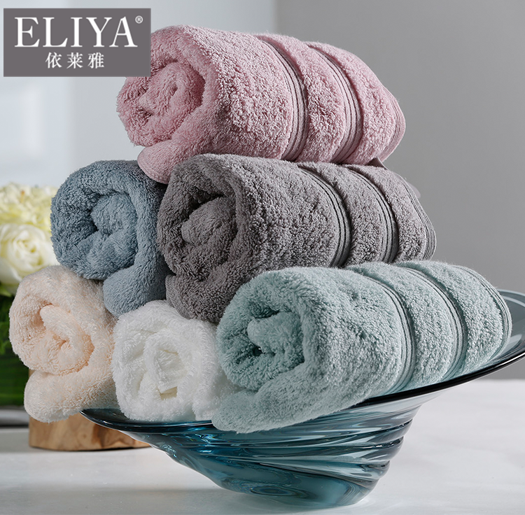 Towels bath set luxury hotel turkish soft 100% cotton color white custom embroidered,w hotel towels