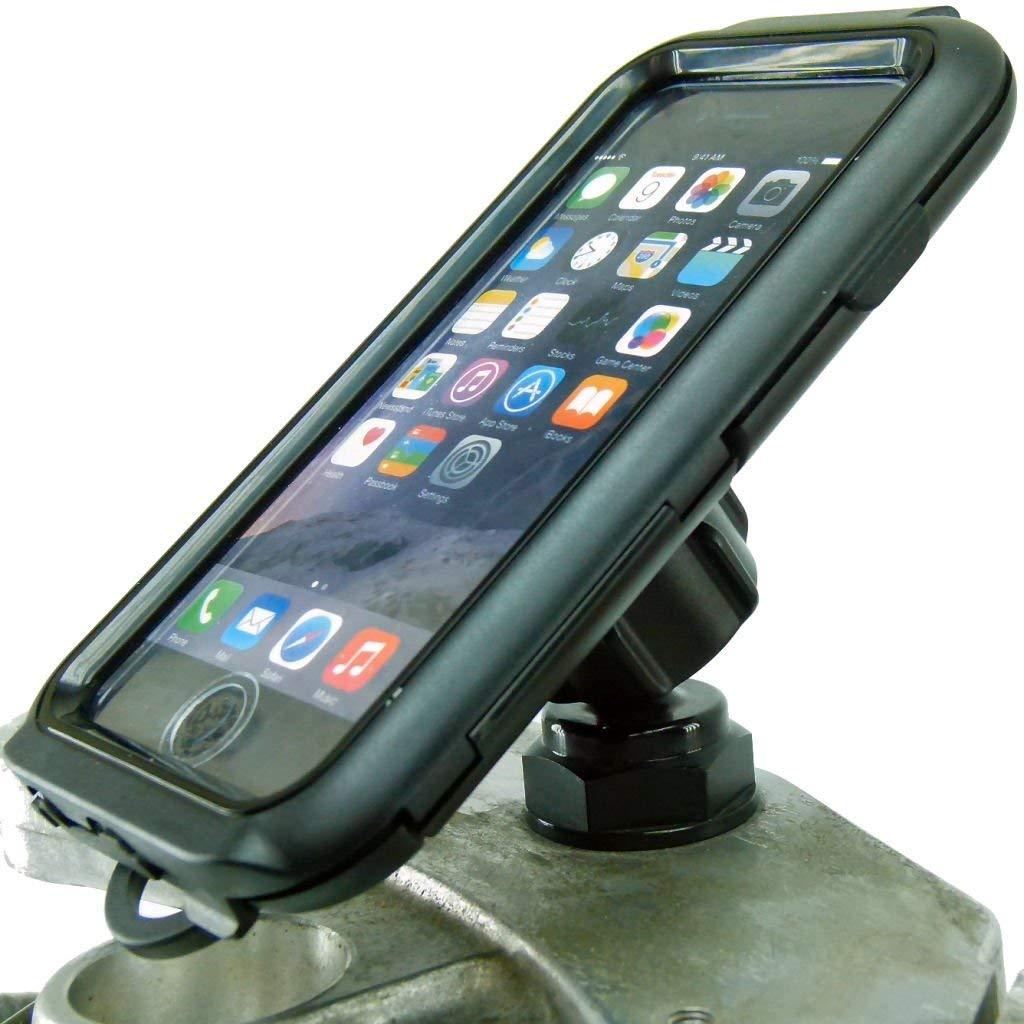"BuyBits Yoke 30 Motorcycle Yoke Nut Compact Tough Case Mount for Apple iPhone 8 (4.7"")"