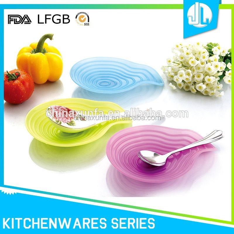 Colorful easy clean professional supplies spoon rest pot clip