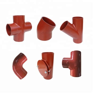 EN877 Standard Red Coated Cast Iron Pipe Fittings