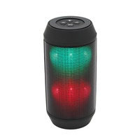 Shenzhen New Cheap Sound Pulse Wireless Portable Bluetooth Speaker with radio Colorful LED Party Lights Red