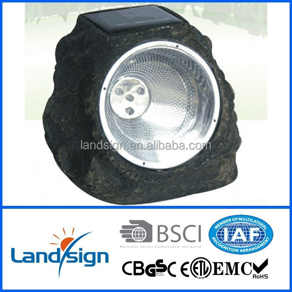 China supplier wholesale decorative led garden lights series XLTD-505 resin color changing solar garden spotlight