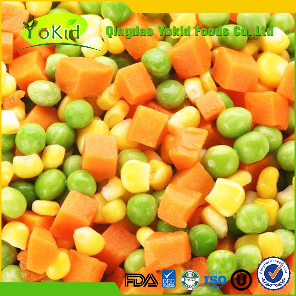 Passed Good Taste frozen mixed vegetable with BRC