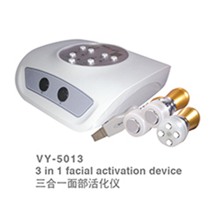 VY-5013 3 in 1 Mesotherapy Iontophoresis Machine/skin scrubber, rf, hot and cold hammer
