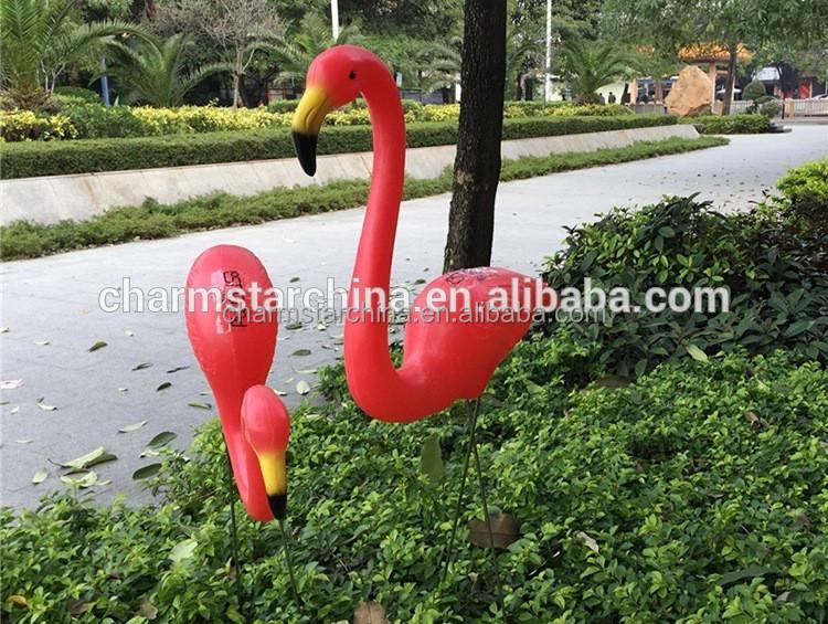 rouge vert rose pourpre animaux jardin décoration flamant rose en