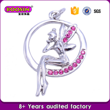 Ballet dancer locket charms ,silver charm wholesale for girls jewelry