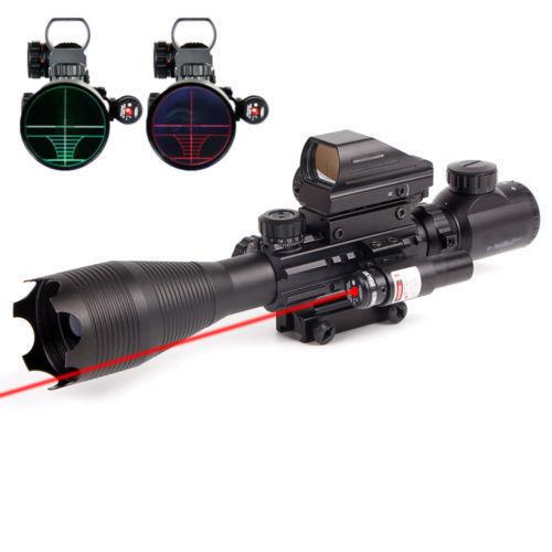 C4-16x50EG Taktische Zielfernrohr W/Red Laser + Holographische Dot Anblick