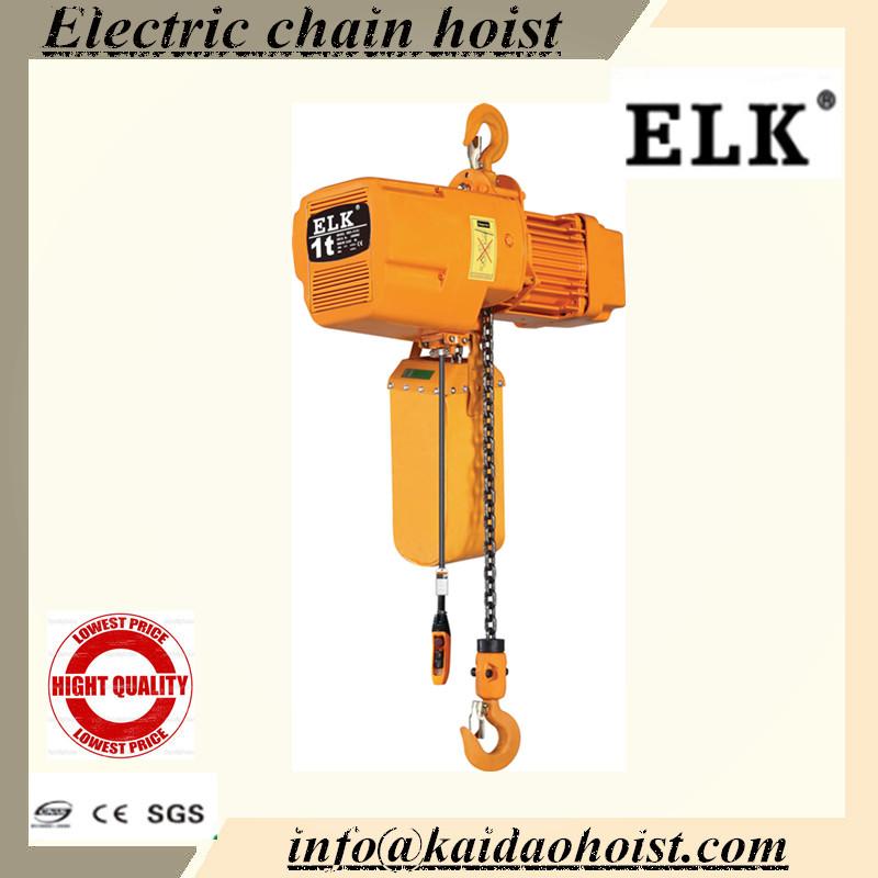 Electric Chain Hoist With Hook: 1 Ton Kraan Elektrische Kettingtakel Met Haak-takels