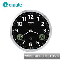 Superb indoor and outdoor temperature analog wall clock