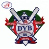 Custom cheap embroidery patch 100% embroidered baseball patch for uniform