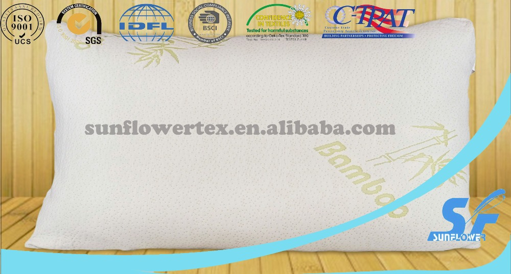 Improved Design - Adjustable Shredded Memory Foam Pillow with Viscose Rayon Cover derived from Bamboo - Removable Case