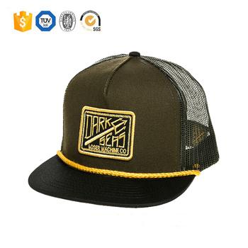 Wholesale custom Blank 3d embroidery patch design cotton mesh trucker hat  cap 69da91892ac