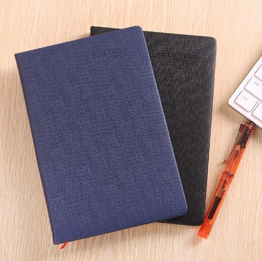 Kustom Daur Ulang Promosi Mewah sekolah dan kantor 80 halaman putih notebook notebook dengan pu penutup kulit