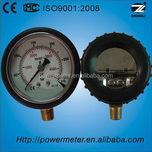 2.5inch CE certified high quality pressure gauge with protector