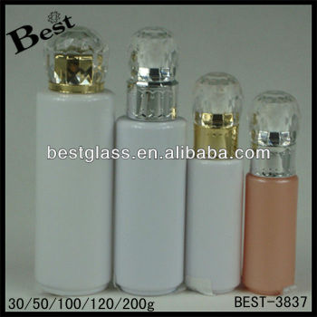 30/50/100/120/200ml,Diamond Cap Lotion Bottle,Round Shape Acrylic ...