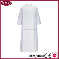 Factory professional supply white catholic church robes cassock alb
