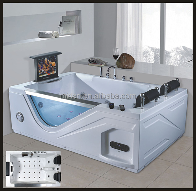 Indoor Left Skirt Hydromassage Sitting Bathtub Made In China