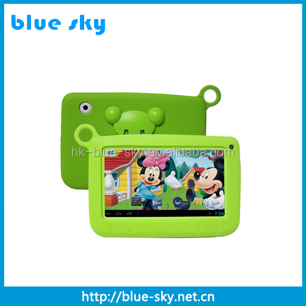 Nice Shape and case with three fashionable colours android tablet pc 7 inch for children