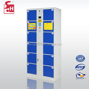Secure luggage storage electronic steel locker with barcode system