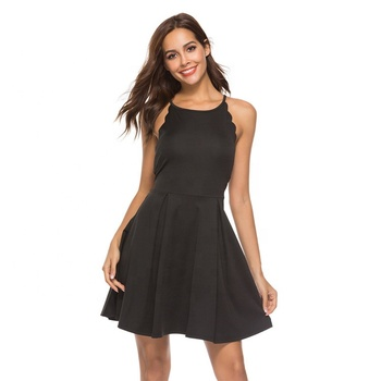 Custom OEM/ODM Short Black Dress Women For Casual/Party Dress Style Wear Clothes