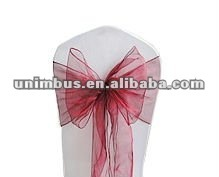 Chair organza sash wedding party banquet bow decorations