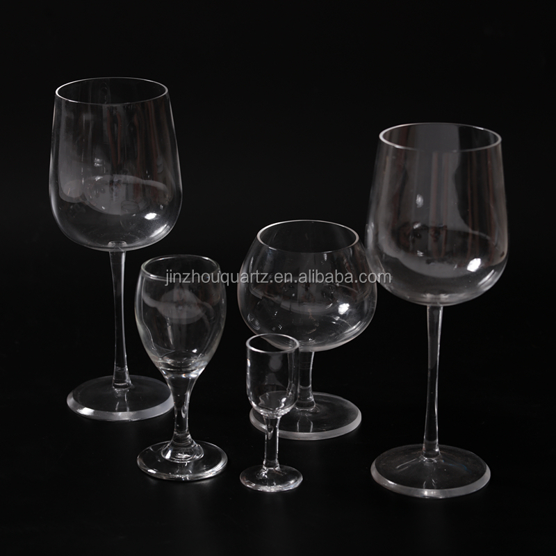 Wholesale high quality quartz crystal wine glass with singing note