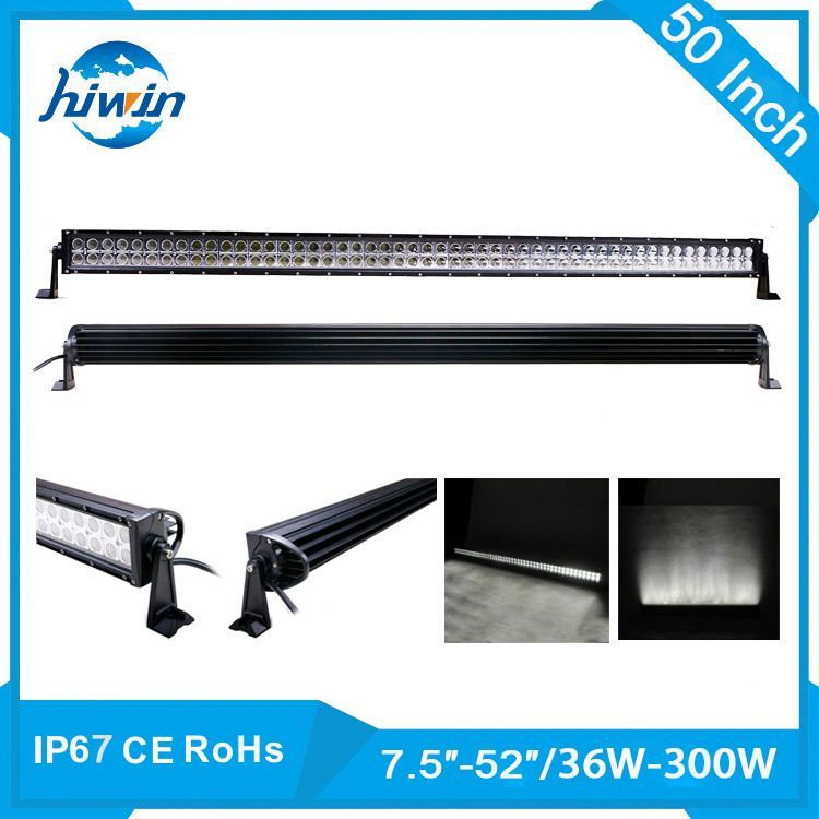 Hiwin 36-300W 7.5-52inch Explosion-Proof and Heat-Proof car led light bar 20 inch 120w led light bar flood spot./