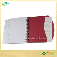 Full color red cover coil binding book printing with palstic cover