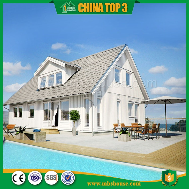 Newest Modern Style Prefabricated House, Light Steel Villa For The Appartement