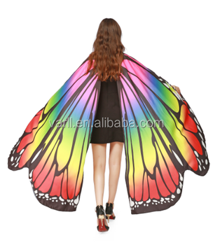 98a149bffd836 Halloween Butterfly Wings Shawl Cape Scarf Fairy Poncho Shawl Wrap Costume  Accessory - Buy Eva Foam For Costume Accessories,Superhero Cape,Kids ...