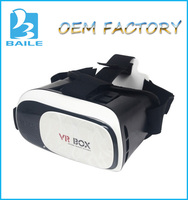 Factory Supply 3D Head Mount VR Box 2nd Generation Virtual Reality vr glasses & Bluetooth Remote